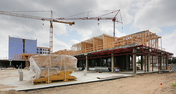 Staff photo: Bill Klotz DLC Residential expects to replace the lumber on the 199-unit Central Park West apartment project, at 1511 Utica Ave.in St. Louis Park, within the next 30 to 45 days. (Staff photo: Bill Klotz)