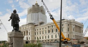 Capitol renovation project managers said they expect to begin moving in historic and non-historic furniture sometime in October. Tenants will be allowed into the building on Jan. 1. (Staff photo: Bill Klotz)