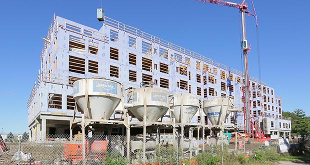 Another 2,200 apartments are expected to open during the second half of 2016, including the 242-unit Onyx apartments nearing completion at 6725 York Ave. S. in Edina, according to Marquette Advisors. (Staff photo: Bill Klotz)