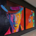 A portrait of Prince hangs in the Prince conference room.