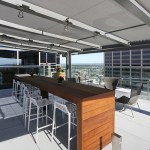 The rooftop deck is a popular place for employees to have lunch during the warmer months.