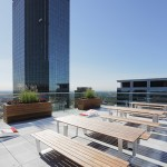 Roof top deck, a popular place for employees to have lunch during the warmer months.