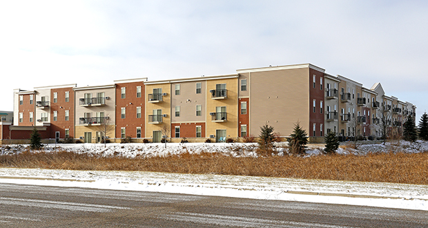 The 138-unit Heritage Village Apartments, at 1531 Seventh Ave. in Sartell, were built in 2007. (Submitted photo: CoStar)