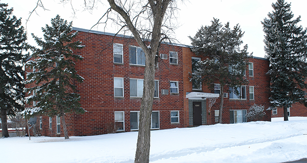 The 551-unit Meadowbrook Manor at 6860 Excelsior Blvd. in St. Louis Park was sold earlier this year and rents have risen since, displacing many residents, according to a new report by the Minnesota Housing Partnership. (Submitted photo: CoStar Group)