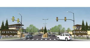 """Level 7 Development, led by Bahram Akrdai, wants to build Avienda, a 620,000-square-foot """"lifestyle center"""" at the southwest quadrant of Lyman and Powers boulevards in Chanhassen, just west of Highway 212. (Submitted rendering: City of Chanhassen)"""