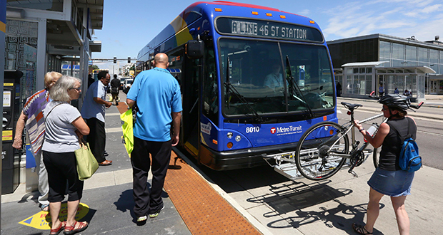 The Twin Cities region has more than a dozen transit lines in different stages of planning, including two light rail lines, a few bus rapid transit routes and a couple potential streetcar corridors. (File photo: Bill Klotz)