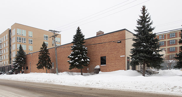 Greco LLC is considering redevelopment of small warehouse building and rear parking lot at 715 Second St. N. in the North Loop of Minneapolis. The site is immediately north of the developer's ElseWarehouse apartments. (Submitted photo: CoStar)