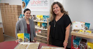 Minnesota food processors are growing, according to the Mid-America Business Conditions Index. Some of that growth may be coming from small food manufacturers, including startups like WholeMe. WholeMe founders Krista Steinbach, left, and Mary Kosir show some of their products in this September 2016 photo. (File photo: Matt M. Johnson)
