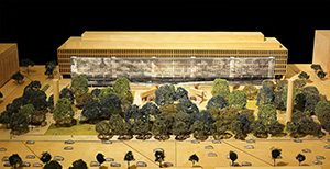 Among the 2014 refinements to the Eisenhower memorial was a metal tapestry depicting Omaha Beach, the site of Eisenhower's triumphant 1944 D-Day invasion – but as it exists today, complete with beach chairs. (Submitted rendering)