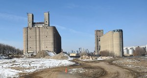 Wall Cos. is planning to build a massive mixed-use development around existing grain elevators at its site off Malcolm Avenue Southeast in Minneapolis. (Photo: Craig Lassig)
