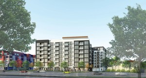 Brickstone's 3100 West Lake Street Apartments will replace an aging office building and will back into a lot entirely surrounded by other multifamily buildings near the shore of Lake Calhoun in Minneapolis. (Submitted illustration: ESG Architects)