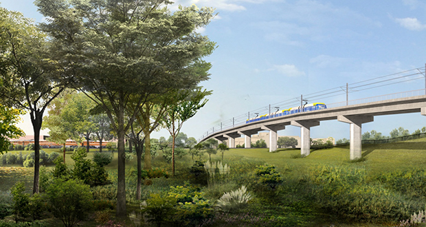 The Met Council may have to wait until December to find out if it's getting a federal funding commitment for the 14.5-mile Southwest Light Rail Transit line between downtown Minneapolis and Eden Prairie. The Southwest Transit Station in Eden Prairie is pictured in this rendering. (Submitted rendering)