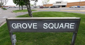 The 191,017-square-foot Grove Square Center at 13601 Grove Drive in Maple Grove is anchored by an 88,000-square-foot J.C. Penney that recently renewed its lease through November 2021 and added an appliances department.  (Staff photo: Bill Klotz)