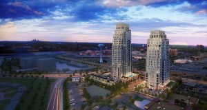 """The """"Estelle Edina"""" project would put 152 luxury condominiums in two towers onto a 3.5-acre site at the southwest corner of France Avenue South and 69th Street West in Edina. (Submitted illustration: Ryan Cos. US Inc.)"""