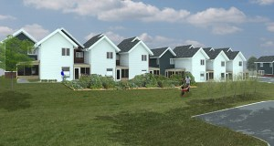 The Minneapolis Public Housing Authority is taking general contractor bids for this affordable townhome project at 5348-5368 Riverview Road and 5118 E. 54th St. in Minneapolis. (Submitted rendering: MSR)