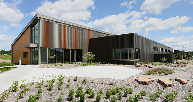 The University of Minnesota's new Bee and Pollinator Lab helps support field research and biological science research. (Staff photo: Bill Klotz)