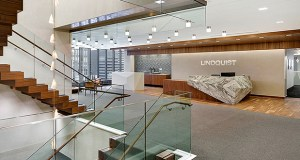 Lindquist & Vennum's new space in the IDS center has given the law firm more collaborative space and given everyone at the firm access to natural light. (Submitted photos)