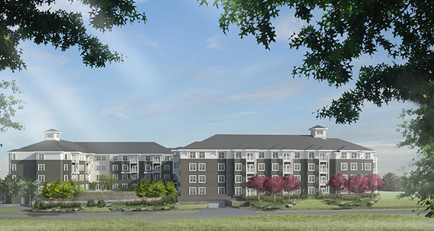 The Waters Senior Living, based in Hopkins, plans to begin work immediately on The Waters on Excelsior, a 115-unit senior apartment building that will replace the former Excelsior Grill restaurant and an apartment building at 723 Water St. in Excelsior. (Submitted image: The Waters Senior Living)