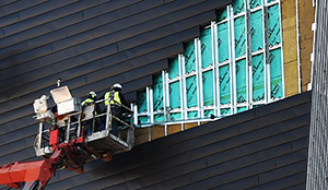 About 10 percent of the exterior panels on U.S. Bank Stadium are being taken off and reinstalled. (Photo: John Autey/Special to Finance & Commerce)