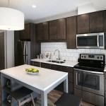 The kitchen in alcove unit 608.