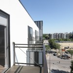 Each unit has a private balcony.