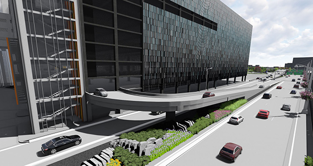 PCL Construction Services submitted the $229.25 million low bid to construct an 11-level parking ramp here at Minneapolis-St. Paul International Airport's Terminal 1, also known as the Lindbergh Terminal. (Submitted image: Metropolitan Airports Commission)