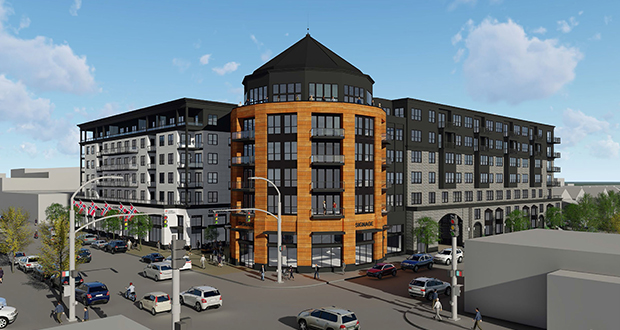 Ryan Cos. US Inc. will build a big mixed-use apartment complex on the Sons of Norway site 1455 W. Lake St. in the Uptown area of Minneapolis.  The complex will be owned by Weidner Apartment Homes when it is completed. (Submitted image: Ryan Cos.)