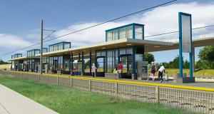 The Metropolitan Council is expected to seek new bids for the $1.858 billion Southwest Light Rail Transit project's civil construction package. The package includes everything from stations, such as this Beltline Boulevard stop in St. Louis Park, to roads, bridges, tracks and tunnels. (Submitted image)