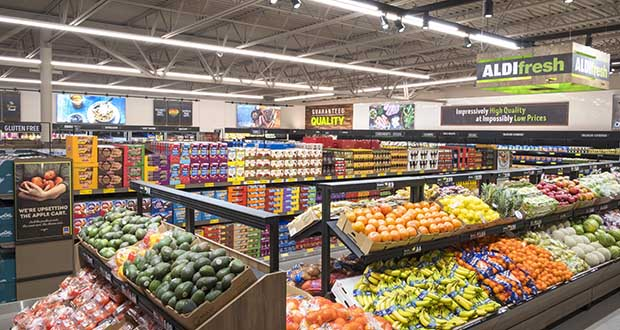 Discount grocer Aldi is on a national campaign to renovate its bare bones stores and build new ones that look more like small, traditional groceries. (Submitted photo: Aldi)