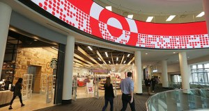 People walk past the skyway level of the downtown Minneapolis Target store. (Staff photo: Bill Klotz)