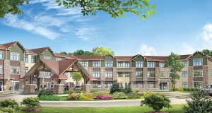 A 139-unit independent living, assisted living and memory care building will be the first phase of The Lakes of Stillwater built near the shores of Long Lake in Stillwater. (Submitted rendering: The Goodman Group)