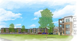 St. Paul-based Michael Development has closed on land for the first of two buildings in this $24 million apartment complex at 2180 Highway 13 and 2160-2164 Highway 13 in Mendota Heights. (Submitted rendering: Kaas Wilson)