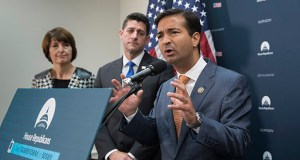 Rep. Carlos Curbelo, R-Fla., a member of the House Ways and Means Committee, is joined by, from left, Rep. Cathy McMorris Rodgers, R-Wash., and Speaker of the House Paul Ryan, R-Wis., as they talk about the GOP agenda for tax reform during an Oct. 24 news conference on Capitol Hill in Washington. U.S. tax policy could do more to help women business owners, argues American University's Caroline Bruckner. (AP Photo: J. Scott Applewhite)