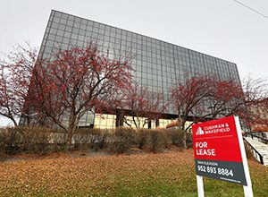 U.S. Bank is moving out of 1550 American Blvd. E. in Bloomington, where it has been a tenant since 2006. The building is not within walking distance of a light rail stop, though it has easy access to Interstate 494 and Highway 77. (Staff photo: Bill Klotz)