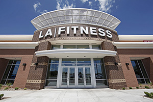 The Excelsior Group turned a former Circuit City store into this 31,466-square-foot LA Fitness center at 1940 County Road D E., along the north edge of Maplewood Mall in Maplewood. (Submitted photo: The Excelsior Group)