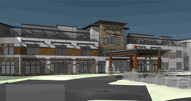 Work has started on the construction of the $25 million, 100-unit Havenwood of Minnetonka senior housing project, which is replacing two small office buildings at 17710 and 17724 Old Excelsior Blvd. in Minnetonka. (Submitted image: InSite Architects)
