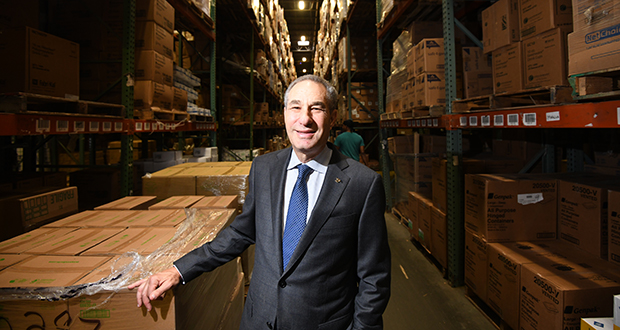 Ron Attman, CEO of Acme Paper and Supply in Elkridge, Maryland, is a second-generation business owner. He has met with advisers to put a succession plan in place, and presented it to his sons for their buy-in. (PHOTO: MAXIMILIAN FRANZ)