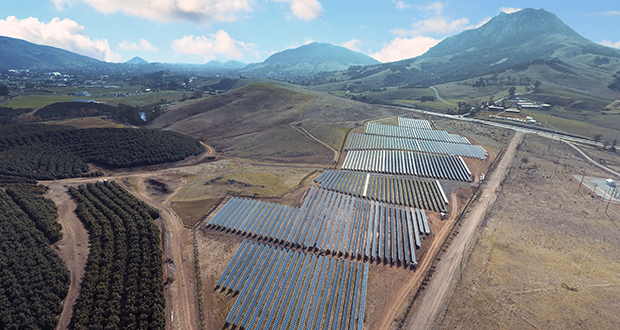 This undated aerial photo provided by REC Solar shows a new solar farm at California Polytechnic University-San Luis Obispo in San Luis Obispo, California. The Trump administration's solar tariff will be more challenging for utility-scale solar projects than for residential, because the modules account for a larger share of the total cost of large projects. (Photo: REC Solar via AP)