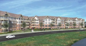 Minneapolis-based United Properties has closed on a 4.6-acre site at 8250 Kirkwood Lane N. in Maple Grove, where it plans to start construction on a $35 million, 102-unit Applewood Pointe senior housing cooperative.  (Submitted rendering: JSSH Architects)
