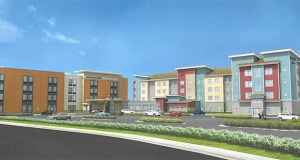 Willmar-based TPI Hospitality is set to begin construction in May on this dual-branded hotel design on the Village at Arbor Lakes development site, in the northeast quadrant of Elm Creek Boulevard and Hemlock Lane North in Maple Grove. (Submitted photo: CoStar)