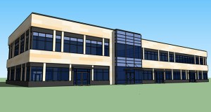North Rock Real Estate intends to build this office building and prepare an adjacent site for a future commercial building in the southeast quadrant of West Circle Drive NW and 26th Street NW in Rochester. (Submitted image: North Rock Real Estate)