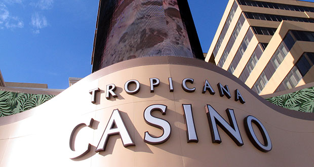 Carl Icahn sold the real estate assets of Tropicana Entertainment to Gaming and Leisure Properties, and its casino operations to Eldorado Resorts in a $1.85 billion deal on Monday. This March 2016 photo shows the exterior of the Tropicana Casino and Resort in Atlantic City, New Jersey. (AP file photo)