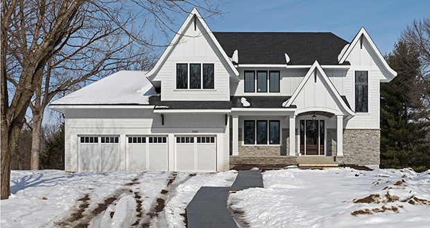Medina-based Zehnder Homes planned this five-bedroom updated farmhouse at 2660 Fox St. in Orono as a model home, but sold it in June for $1.495 million. (Submitted photo: Zehnder Homes)