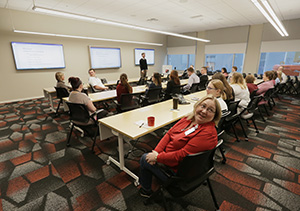 The Kraus-Anderson Headquarters features a 70-person training center. (Staff photo: Bill Klotz)