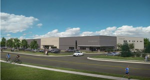 Minnetonka-based Opus Group is developing this 86,000-square-foot warehouse and industrial building at the northeast quadrant of Phalen Boulevard and Wells Street in St. Paul. It's part of the St. Paul Port Authority's Beacon Bluff Business Center. (Submitted image: Opus Group)