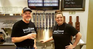 Bill and Penny Burt opened the doors to Rustech Brewing in Monticello over Memorial Day weekend. (Submitted photo)