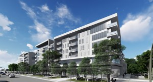 Two mixed-use apartment buildings proposed by France Equities and DJR Architecture for 7250 and 7200 France Ave. S. would be part of a neighborhood with its own wide, north-south street. (Submitted illustration: DJR Architecture)