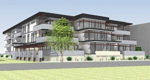 The Ventana Condos planned for 253 Lake St. E. in Wayzata are among three new buildings planned or under construction along a block that faces Lake Minnetonka. (Submitted rendering: Weber Architects and Planners)