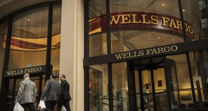 This photo shows a Wells Fargo branch in New York in January 2017. (Bloomberg file photo)