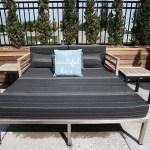 Seating area on the one-acre rooftop deck.